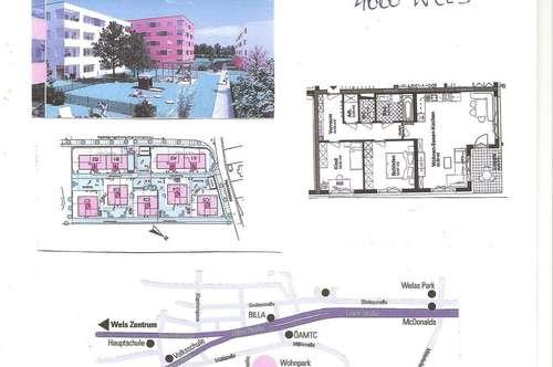 75 m2 sehr ruhige Park-Wohnung Wels-Ost