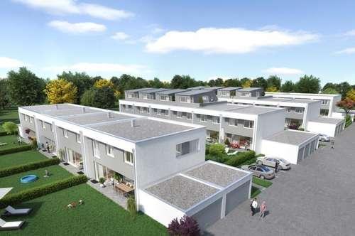 """Dachterrasse, Eigengarten und unterkellert - Top Reihenhaus in Perg """"Central Village"""""""