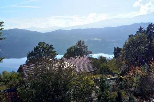 4-Zi.-Wohnung mit Traumaussicht (See & Gebirge), Balkon, evtl. Gartenmitben.