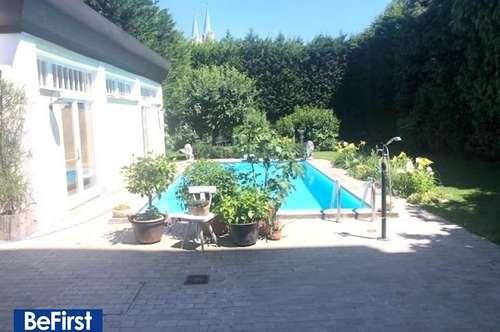 Prachtvolle Luxusgartenwohnung mit Pool im Herzen von Klosterneuburg