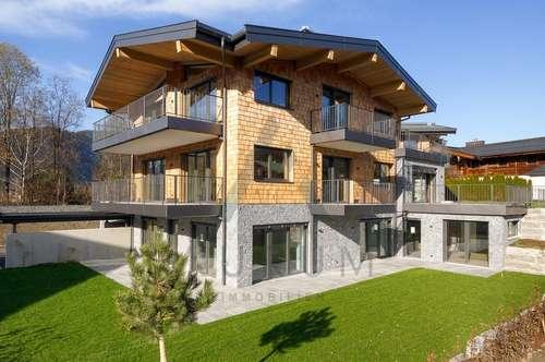 Exklusive Gartenwohnung im alpinen Stil