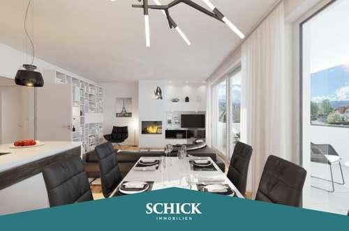 PÄRCHEN | Premium Qualität: 3 Zimmer - Neubau - großer Sonnenbalkon - Tiefgarage