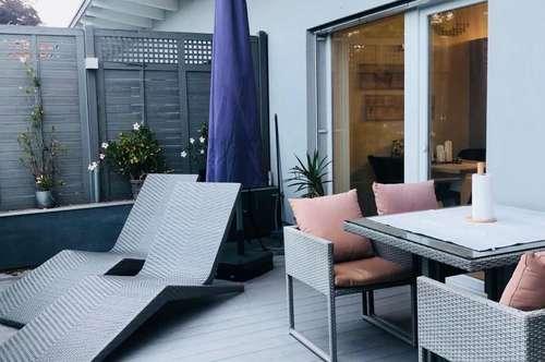 Moderne, vollmöblierte Maisonette-Wohnung mit Whirlpool + Garten