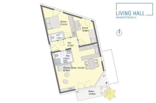 Großzügige 3-Zimmer-Wohnung mit Süd-Balkon