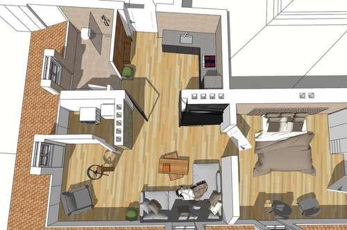 Provisionsfrei: Schöne Kernsanierte Dachgeschoßwohnung