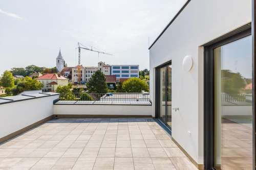 Dachgeschoßwohnung 123 m² + Terrasse 36 m², Erstbezug, Stadtmitte Mattersburg, mit wunderschönem Ausblick