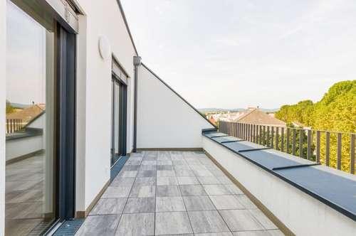 DG-Eigentumswohnung 99 m² + Terrasse 13 m², Erstbezug, Stadtmitte Mattersburg, mit wunderschönem Ausblick