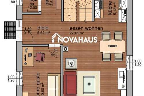 NOVA HAUS - AKTION! Ziegel-Massiv-Haus NOVA 110 Schlüsselfertig mit Bodenplatte inkl. Erdarbeiten zum Fixpreis