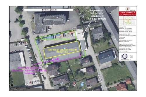 Lagerhalle/ Baugrundstück mit Büro und Freiflächen provisionsfrei