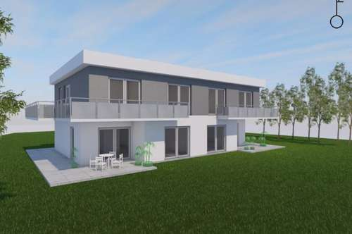 Doppelhaushälfte mit Doppelcarport und 280 m² Südwest-Garten