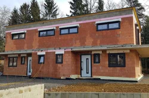 Doppelhaushälfte mit Doppelcarport und 280 m² Südwest-Garten bei Graz