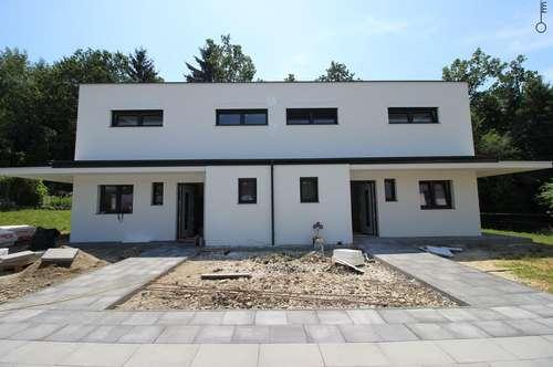 FAMILIENTRAUM IN LIEBOCH! Neubau-Doppelhaushälfte mit Garten & Doppelcarport