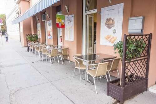 Eissalon/Café mit Schanigarten unbefristet zu vermieten!