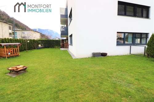 Purer Wohngenuss in Feldkirch (Gisingen): junge 3-Zimmerwohnung mit GROSSEM Garten in Bestlage zu verkaufen!