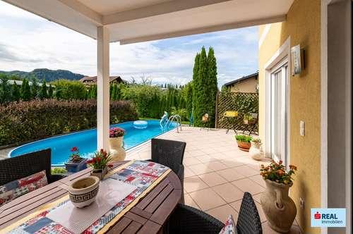 Wunderschön gepflegtes Einfamilienhaus mit Pool mitten in Ebenthal