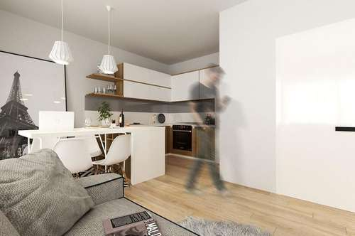 Große Terrasse: Provisionsfreie 2-Zimmer Wohnung