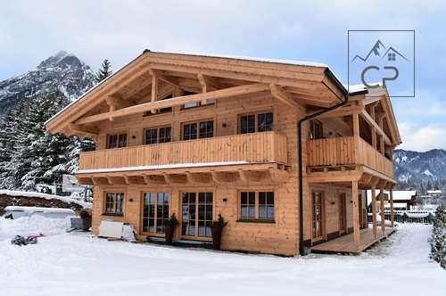 Wunderschöne Gartenwohnung im neu errichteten Tiroler Blockhaus