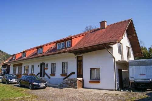 Ehemalige Tischlerei mit großem Wohnhaus, Sägehalle und Garagen. - Zentrale Lage mit Sanierungs-Potential. - Kerngebiet!