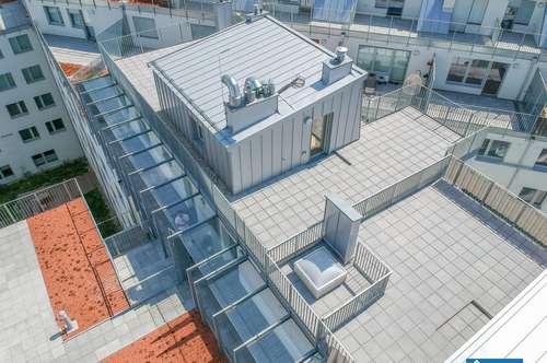 Erstbezug! **4 Zimmer Maisonette Dachgeschoßwohnung mit traumhafter 120m² großen Dachterrasse**