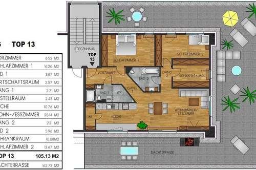 Luxus Penthouse Wohnung | Dachterrassentraum PRIVAT-Verkauf | Ebreichsdorf Zentrum