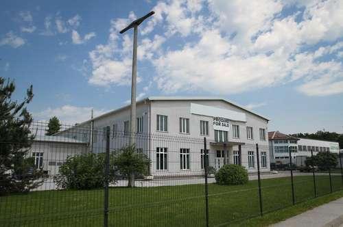 Gewerbeliegenschaft mit Büros, Lager, Parkflächen... Ihr Produktionsbetrieb direkt an der Autobahn in der Nähe von Marburg