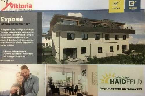 Erstbezug!  3-Zimmer-Erdgeschosswohnung mit Garten und Terasse in ruhiger Lage in Eben im Pongau!