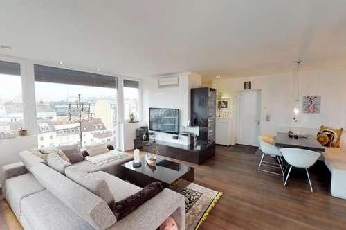 Penthouse mit Lift in den Wohnraum