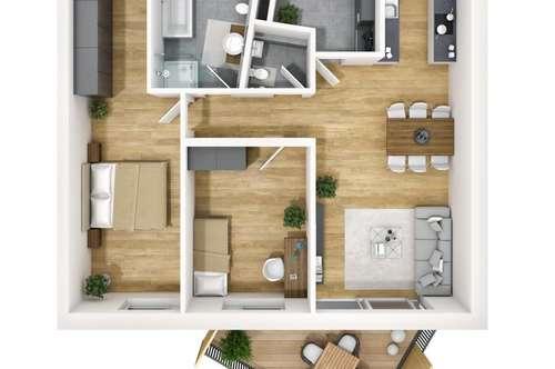 Komfortable 3-Zimmer-Wohnung in Neubau in Kranebitten