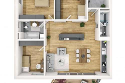 4-Zimmer-Wohnung mit Blick aufs Mittelgebirge