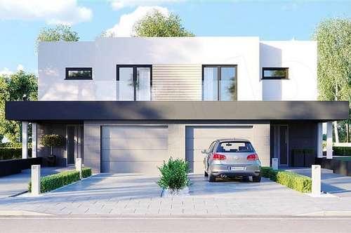 Modernes Doppelhaus in Korneuburg auf Eigengrund