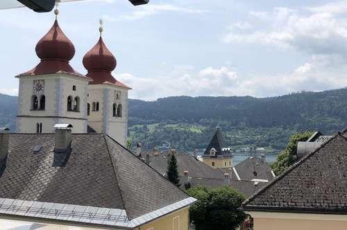 Historische Dachgeschosswohnung in Millstatt mit Seeblick .