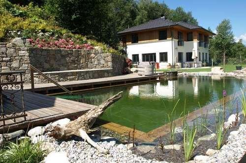 Traumvilla mit eigenem Park,Naturpool ,Steinbruch und einzigartigem Blick auf See und Berge