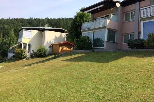 Grün und blau leben. Gartenwohnung mit Seezugang am Hafnersee.
