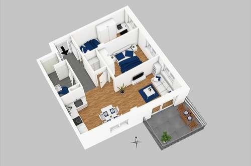 PROVISIONSFREI!!!! Tolle 3 Zimmer Wohnung mit Balkon in 8010 Graz nahe Seifenfabrik