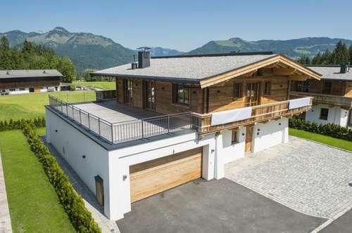 Neues Landhaus-Chalet mit wunderbarem Weitblick in Schwendt bei Kössen