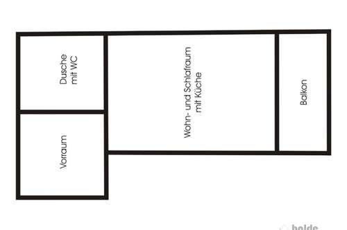Kuchl: Garconniere 30m² mit Balkon 5m² zum vermieten!