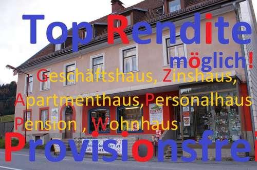 Geschäftshaus, Zinshaus, Apartmenthaus, Personalhaus, Pension, Wohnhaus mit Top Rendite Provisionsfrei!