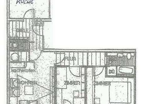 Geräumige 4 Zimmer-Wohnung im Ortskern von Goldegg / 78m²