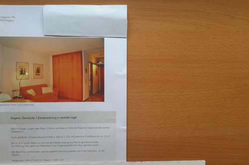 Privatverkauf Anlegerwohnung Appartement 33,25 m2 in Bodenseenähe !