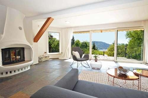 Seeblick Residenz über dem Wörthersee mit zwei Bauparzellen