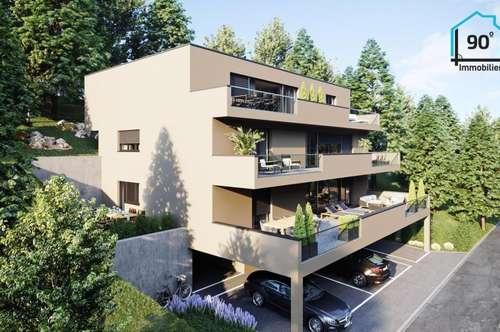 Neubau 3-Zimmer-Wohnung in Plainfeld, sonnig, unverbaubar