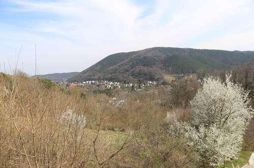 Zwei Baugrundstücke (zusammenlegbar) mit Panoramaaussicht in südlicher Ruhelage