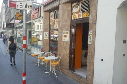 Gastronomie mit eigener 3 Zimmer Wohnung + Schanigarten + 3 Produktionsräume zu übergeben