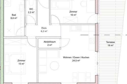 Perfekt eingeteilte, neuwertige 3-Zimmerwohnung mit Terrasse