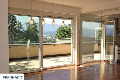 PENTHOUSE- MAISONETTE mit Panoramablick und traumhaften Terrassen in bester Lage in Klagenfurt