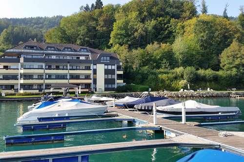 Luxuswohnung Maria Wörth direkte Seelage, provisionsfrei! Marinaplatz zusätzlich möglich!