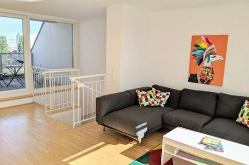 ALL INCLUSIVE! - Rooftop Apartment w terraces – fully furnished - near Alte Donau, UNO City & Vienna International School