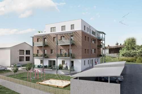 Moderne 3-Zimmer-Wohnung mit Fußbodenheizung, Balkon, Carport in zentraler Lage
