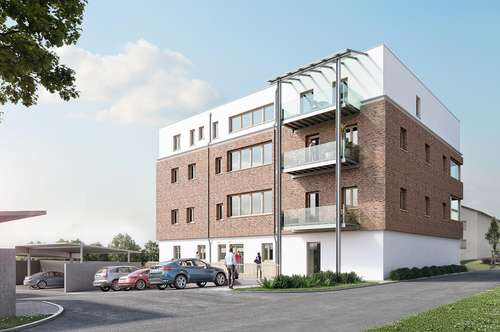 Moderne 2-Zimmer-Wohnung mit Fußbodenheizung, Balkon, Carport in zentraler Lage (Top 1)