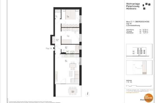 Neubau: Hörbranz 3 Zimmerwohnung